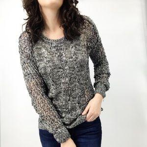 Volcom : 'True to This' Gray Knit Sweater Medium